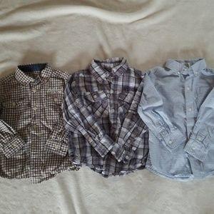 3T button down shirts